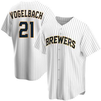 Youth Daniel Vogelbach Milwaukee White Replica Home Baseball Jersey (Unsigned No Brands/Logos)